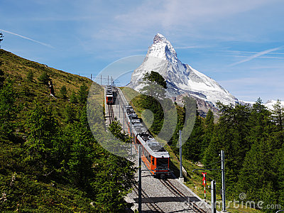 Gornergrat Train with Matterhorn