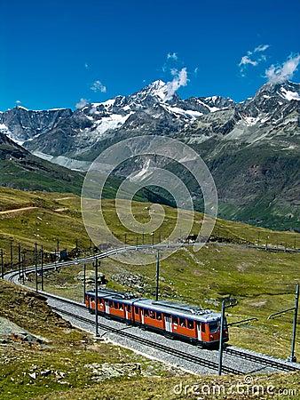 Free Gornergrat Train Switzerland Stock Photography - 6121782