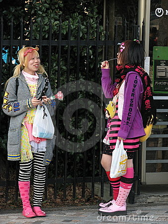 Gosses de Harajuku Photo stock éditorial