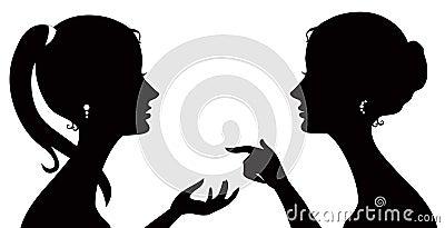 Gossip silhouette