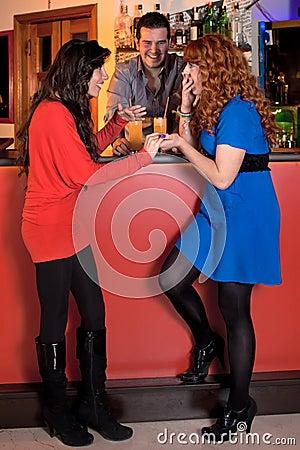 Gossiping At The Bar.