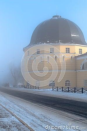 Free Gostiny Dvor (Merchants Yards) Tower In Fog Royalty Free Stock Photos - 69224588
