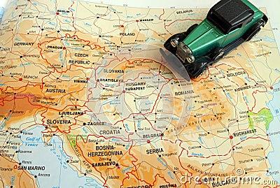 Self drive trip through Europe concept