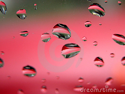 Gotas da água - macro afiado
