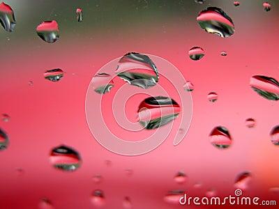 Gotas del agua - macro sostenida