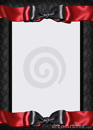 Goth card menu invitation