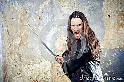 Goth enojado