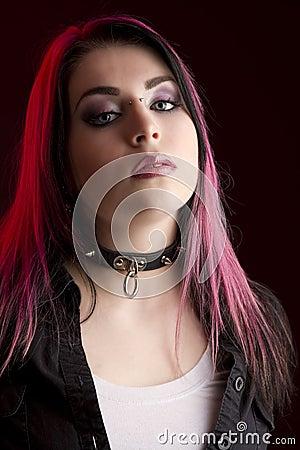Goth head shot