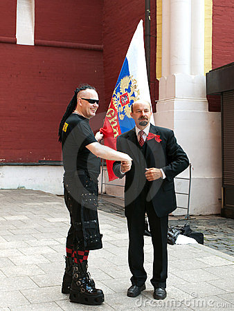 Goth and Lenin Editorial Image