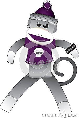 Goth Sock Monkey