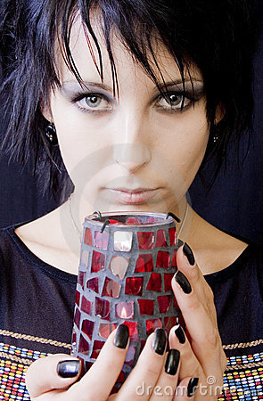 Goth Woman with Candle