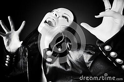 Goth woman horror portrait