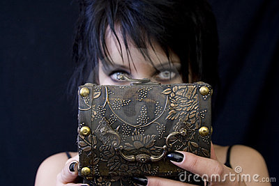Goth woman s treasure box