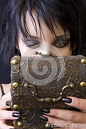 Goth woman s treasure box
