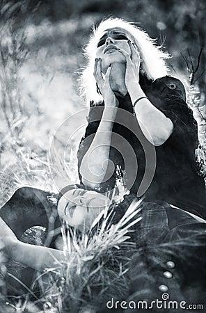 Goth women sorrow