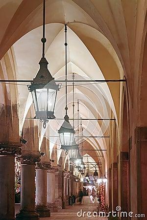 Gothic arcades by night