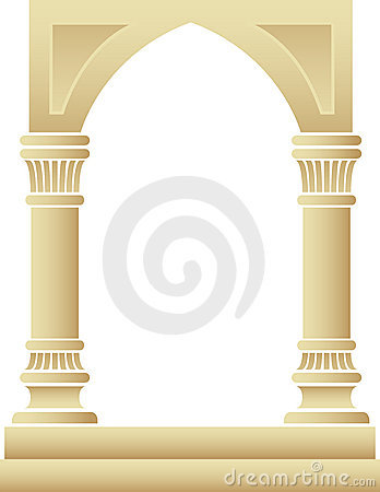 Free Gothic Arch Columns Frame/eps Stock Photo - 9109510