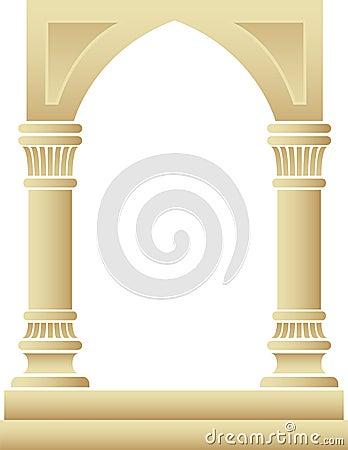 Gothic Arch Columns Frame/eps