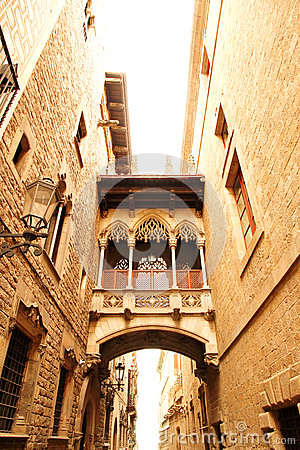 Free Gothic Architecture In Barcelona Royalty Free Stock Image - 27711036