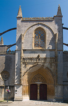 Gothic basilica in Lekeitio, Basque Country, Spain