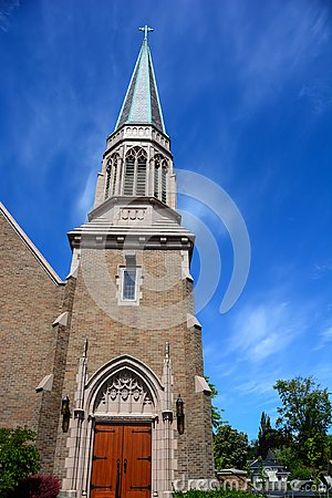 Free Gothic, Brick Church In Bellingham, Washington Stock Photos - 106827903