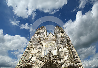 Gothic cathedral of Saint Gatien, Tours, France
