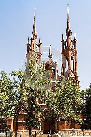 Free Gothic Catholic Church In Samara Stock Photography - 88556102