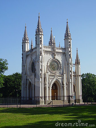 Free Gothic Chapel In Peterhof Stock Photography - 1306752
