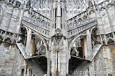 Gothic Church Architecture Gargoyle Italy Stock Photos Images