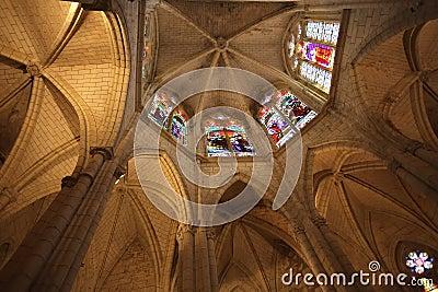 Gothic church chancel