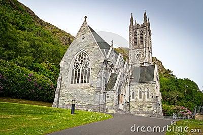 Gothic church in Connemara mountains Editorial Photo