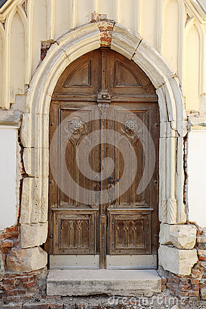 Gothic church doorway