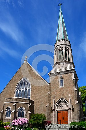 Free Gothic Church In Bellingham, WA Stock Images - 106827934