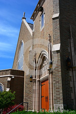 Free Gothic Church In Bellingham, WA Stock Image - 106827991