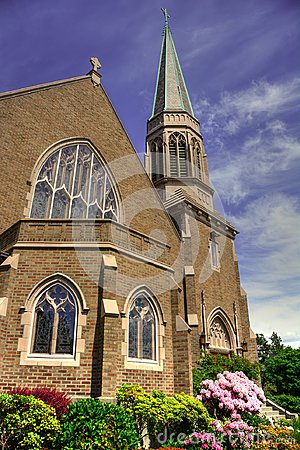 Free Gothic Church In Bellingham, WA Royalty Free Stock Photos - 106931838
