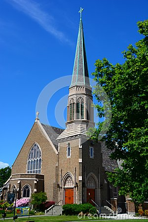 Free Gothic Church In Bellingham, WA On Sunny Day Royalty Free Stock Photos - 110106958