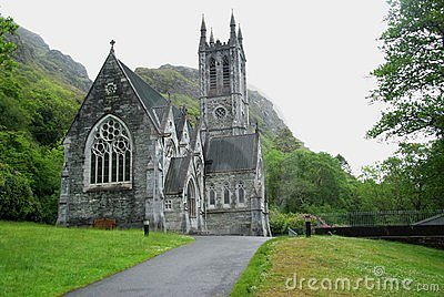 Gothic church in Ireland Editorial Image