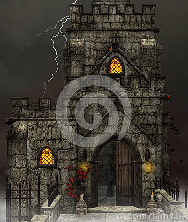 Gothic dark church