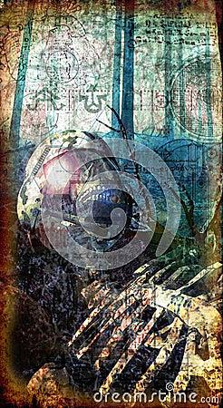 Gothic dead soldier