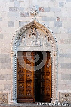 Gothic door of Santa Maria, San Daniele