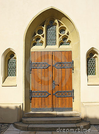 Gothic entrance to the church