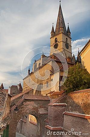 Gothic evangelical church of sibiu transylvania