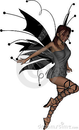 Free Gothic Fairy Take Off Royalty Free Stock Photo - 11429915