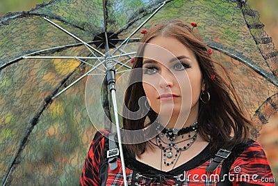 Gothic fashion model