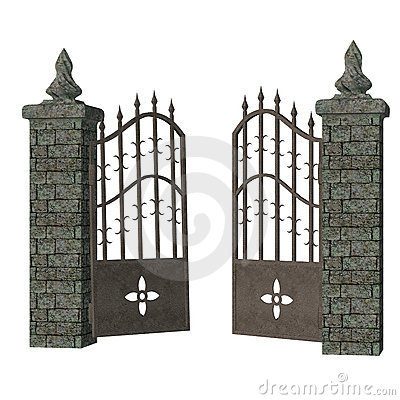 Gothic Gate Stock Images Image 13429724
