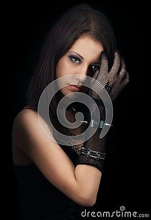 Free Gothic Girl Stock Image - 29359871