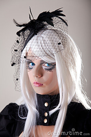 Free Gothic Girl With Creative Make-up Royalty Free Stock Image - 23606926