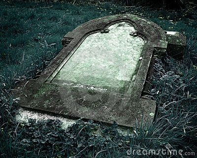 Gothic Grave stone with clear space for text