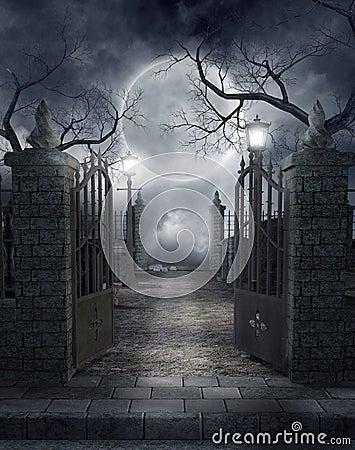 Gothic graveyard 3