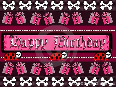 Gothic Happy birthday greeting card